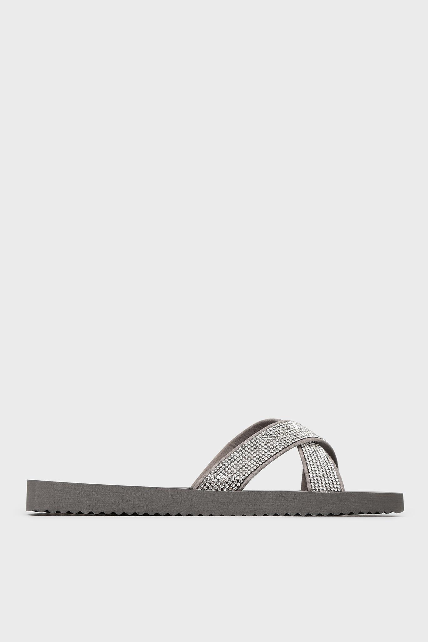 Женские серебристые слайдеры Flip Flop