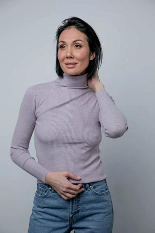 The Flip Flop TURTLENECK (весна) Сиреневая меланж