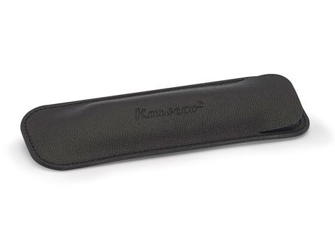 Чехол ECO для 2 длинных ручек кожаный чёрный