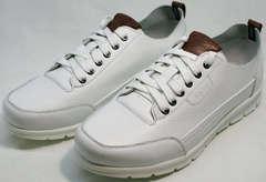 Стильные кроссовки мужские белые Faber 193909-3 White.