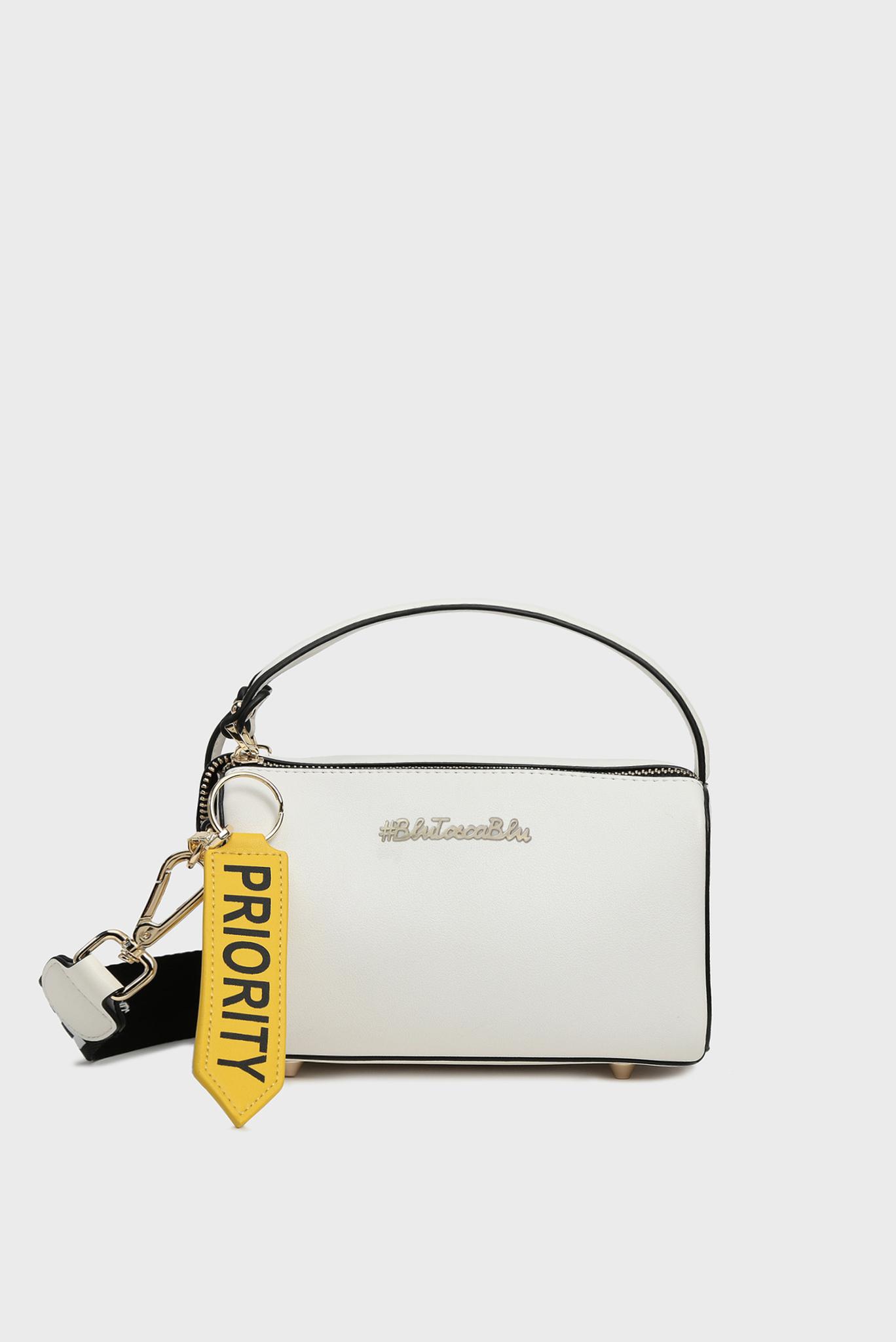 Женская белая сумка через плечо PRIORITY Tosca Blu