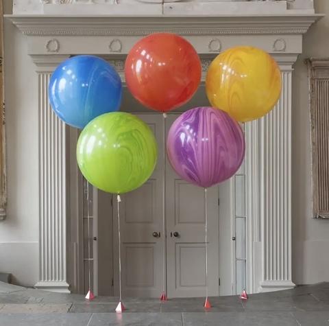 Большие шары 90 см агаты на ленте