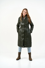 Пальто-одеяло хаки