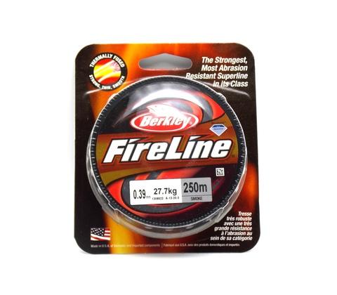 Плетеная леска Berkley Fireline Темно-серая 250 м. 0,39 мм. 27,7 кг. Smoke (1308622)