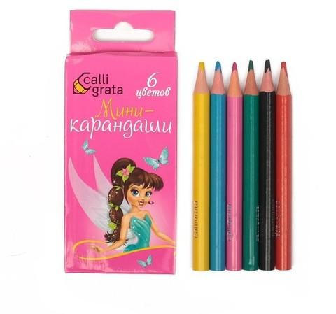 061-9336 Карандаши 6 цветов МИНИ Calligrata Принцесса
