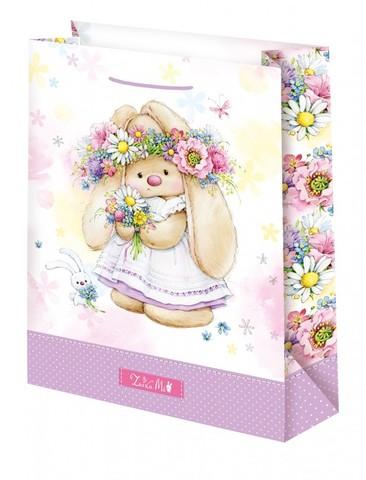 Подарочный пакет Зайка Ми в веночке (большой)