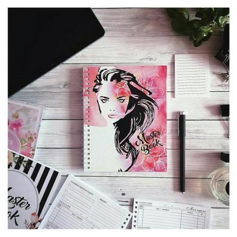 Ежедневник-планер для мастера #4 (девушка на розовом фоне)