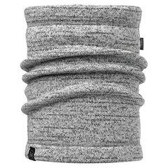 Теплый шарф-труба флис Buff Melange Grey