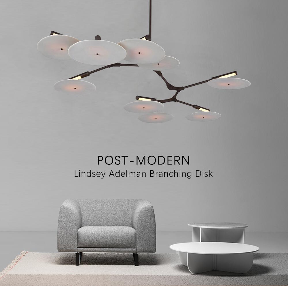 Потолочный светильник копия Branching Discs by Lindsey Adelman (5 плафонов, золотой)