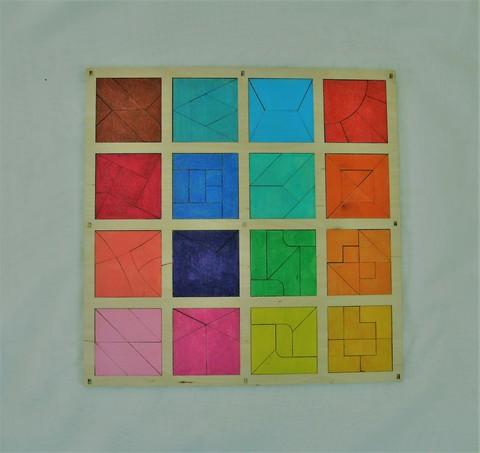 Головоломка «Сложи квадрат»