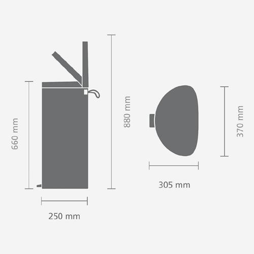Мусорный бак FlatBack+ (30л), Пламенно-красный, арт. 484988 - фото 1