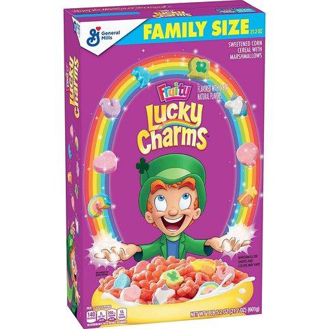 Готовый завтрак Lucky Charms Fruity фруктовый с маршмеллоу 601 гр
