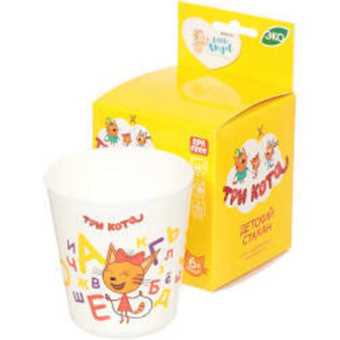 Детский стаканчик пластиковый «Три кота»