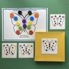 Бабочка с кружочками и схемами.Развивающее пособие на липучках Frenchoponcho (Френчопончо)