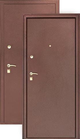 Дверь входная S-3 стальная, медь, 2 замка, фабрика Арсенал