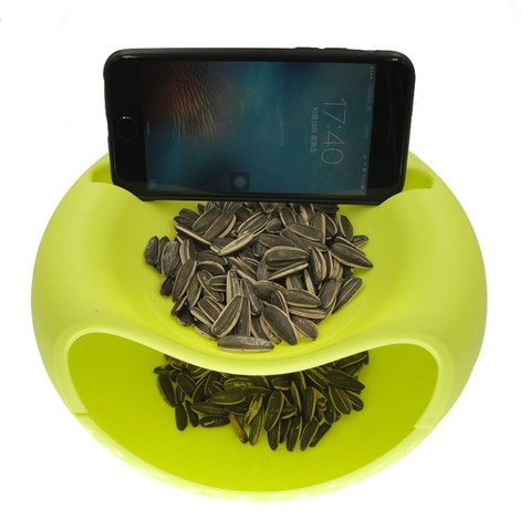 Миска для семечек и подставка для телефона