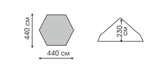 Тент шестиугольный Talberg Cover 4,4x4,4 зеленый - 2