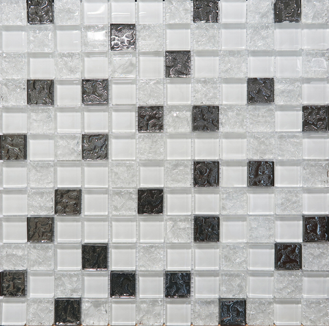 Мозаика Mosaic Glass White 300x300