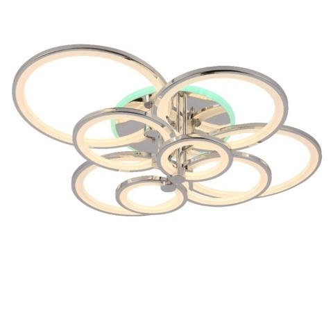 Потолочная светодиодная люстра NL-6600/2*4 CH+RGB