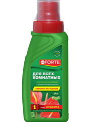 Жидкое минеральное удобрение для всех комнатных растений Bona Forte флакон 285 мл