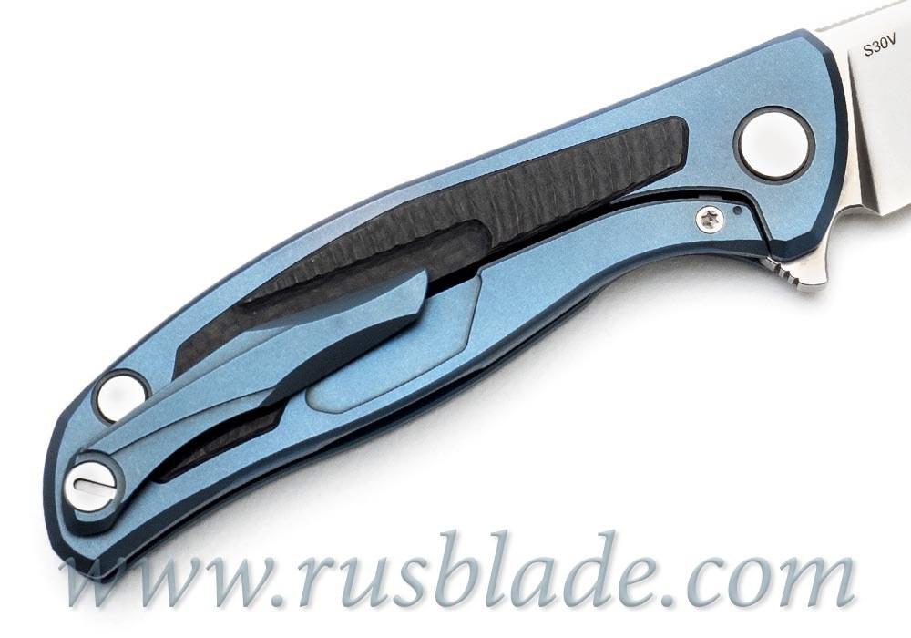 Shirogorov Flipper 95 S30V Blue Anodized - фотография