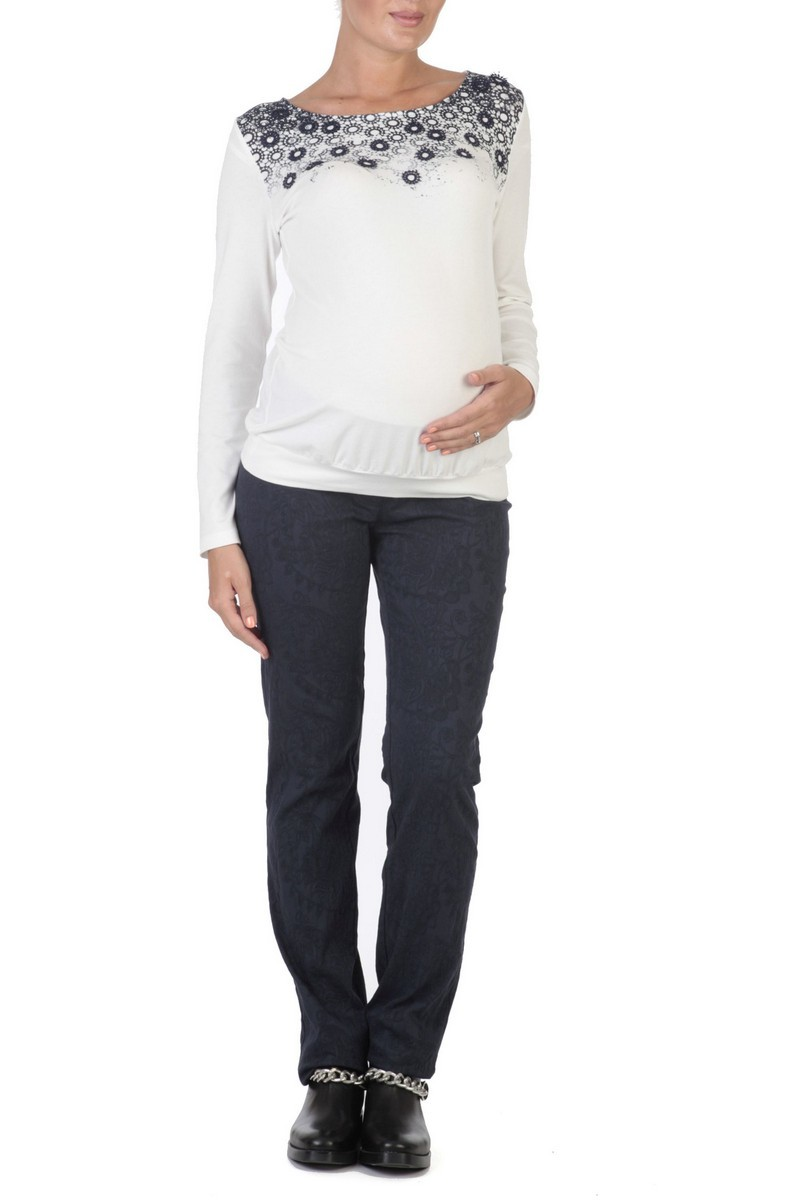 Джемпер для беременных 01830 белый