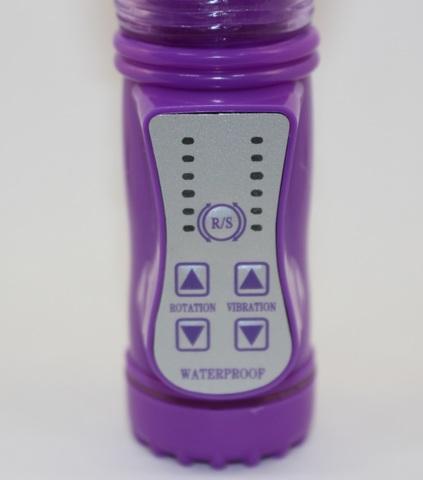 Вибратор вагинально-клиторальный Уточка фиолетовый