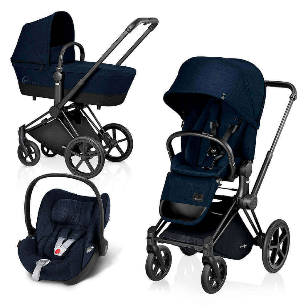 Цвета Cybex Priam 3 в 1 Детская коляска Cybex Priam Lux 3 в 1 Midnight Blue шасси Matt Black/Trekking cybex-priam-midnight-blue-black.jpg