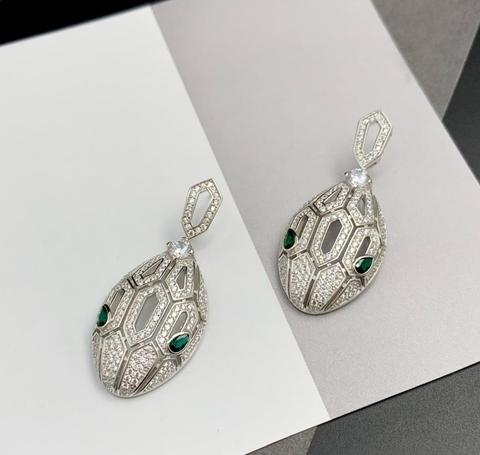 83034 - Серьги Змеи Serpenti из серебра с цирконами