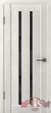Дверь Л2ПГ5 стекло черное (беленый дуб, остекленная экошпон), фабрика Владимирская фабрика дверей