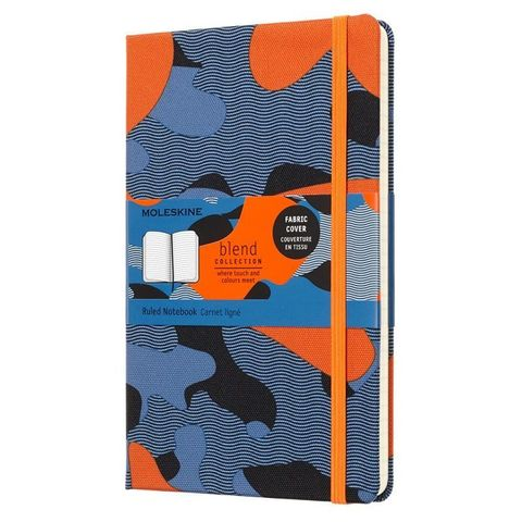 Блокнот Moleskine Limited Edition BLEND LGH LCBD03QP060CAMOC1 Large 130х210мм обложка текстиль 240стр. линейка Camouflage orange