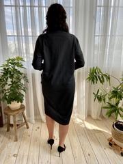 Саманта. Стильне плаття великих розмірів. Графіт