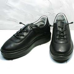 Осенние кожаные кеды женские Rozen M-520 All Black.