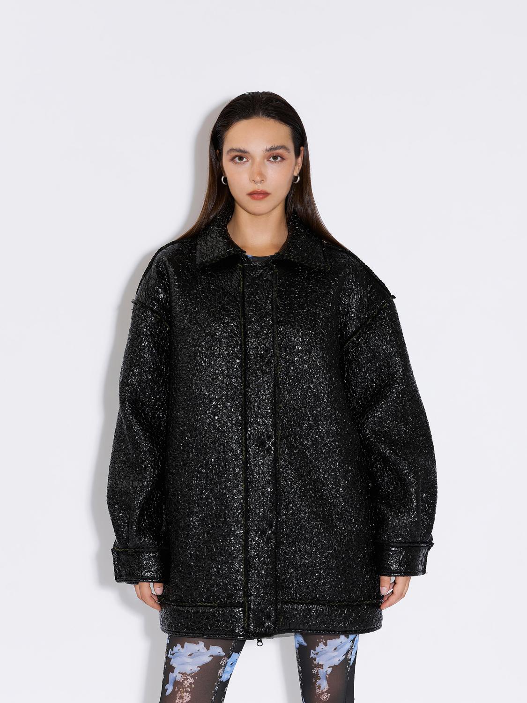 Куртка объемная из лаке