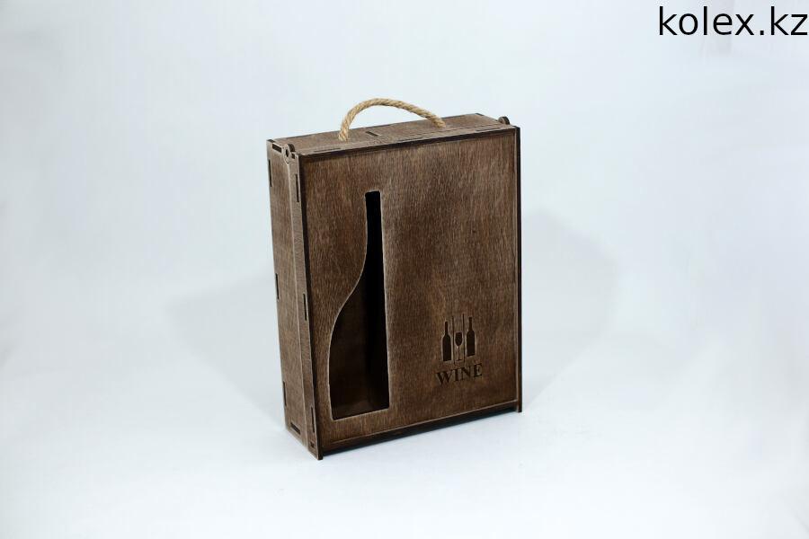 Подарочный ящик из дерева под вино