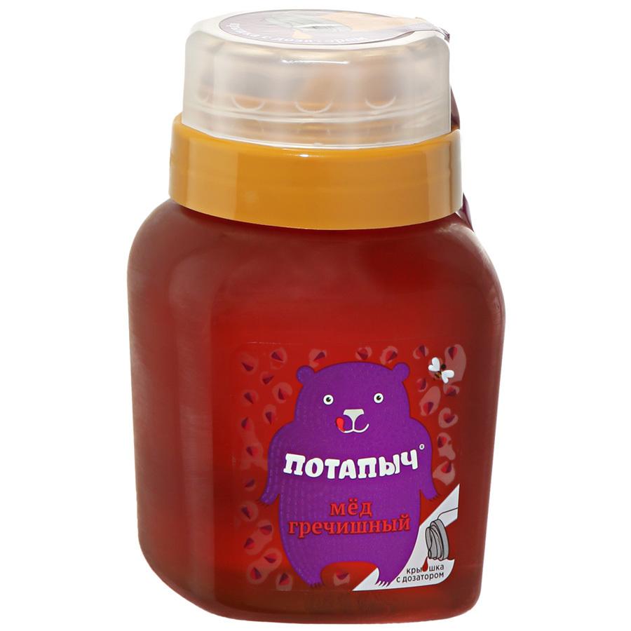 Мёд натуральный ПОТАПЫЧ гречишный [пл.банка с дозатором 500г]