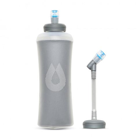 Мягкая бутылка для воды с трубкой с термоизоляцией HydraPak Ultraflask IT (0,5 литра), серая