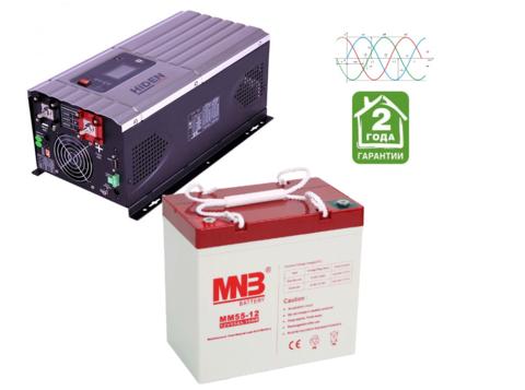 Комплект ИБП HPS30-1012-АКБ MM55 (12в, 1000Вт)
