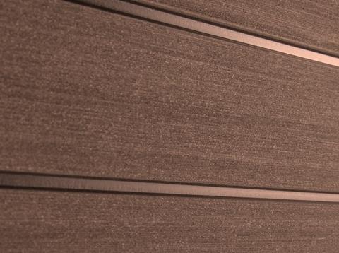 Профиль ДПК для заборов - SW Agger. Цвет терракот.