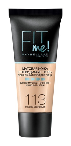 Maybelline Fit Me тональный крем матовая кожа + невидимые поры №113 розово-опаловый