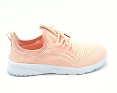 Текстильные кроссовки персикового цвета