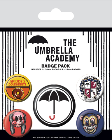 Набор значков The Umbrella Academy (Super)