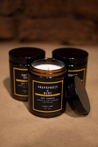 Соевая свеча Тыквенный чай латте-  180 мл