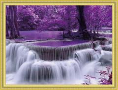Алмазная Мозаика 30x40 Розовый водопад