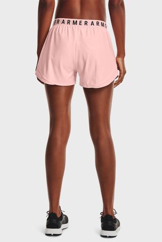 Женские розовые шорты Play Up Shorts Emboss 3.0-PNK Under Armour