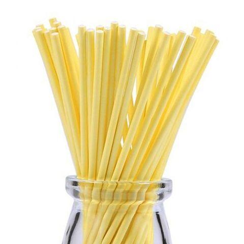 Палочки для кейкпопсов Желтые 15 см/100 шт Китай
