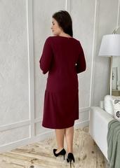 Кармен. Оригінальна сукня зі стразами pluse size. Бордо