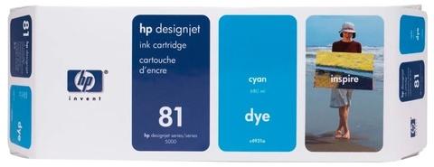 Оригинальный картридж струйный HP C4931A (№81), голубой