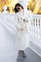 Двубортное пальто из вирджинской шерсти и ангоры