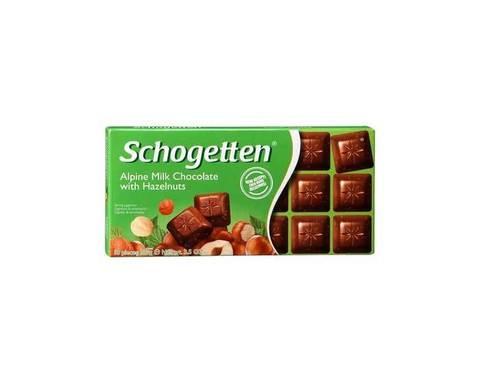 Шоколад Schogetten альпийский молочный с фундуком